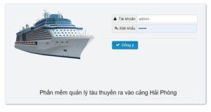 Full code Phần mềm quản lý tàu thuyền ra vào bến cảng Hải Phòng