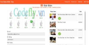 Website bán trà sữa chuyên nghiệp, đặt bàn gọi món trực tuyến