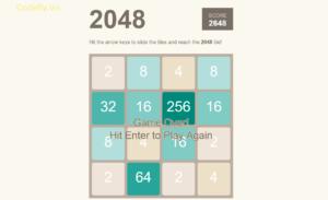 Trò chơi 2048 đơn giản trong JavaScript