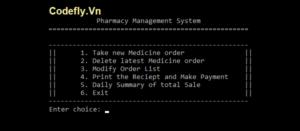 Hệ thống quản lý nhà thuốc bằng C++ với mã nguồn