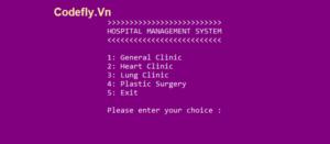 Hệ thống quản lý bệnh viện bằng C++ với mã nguồn