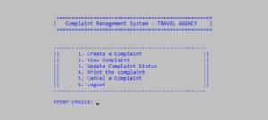 Hệ thống quản lý khiếu nại bằng C++ với mã nguồn