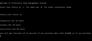 Hệ thống quản lý cửa hàng văn phòng phẩm trong Lập trình C với mã nguồn