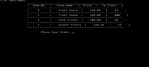 Hệ thống quản lý cửa hàng trái cây bằng C++ với mã nguồn
