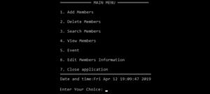Hệ thống quản lý CLB CNTT trong Lập trình C