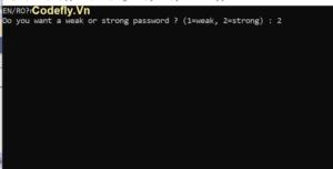 Trình tạo mật khẩu ngẫu nhiên bằng Python