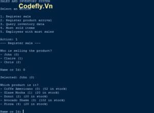 Hệ thống bán hàng và kiểm kê sử dụng Python